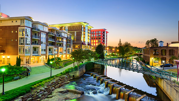Downtown of Greenville